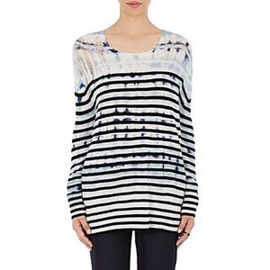 RAQUEL ALLEGRA Tie-Dyed & Striped Sweater size M-L